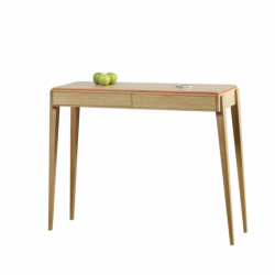 Table console design LISERÉ en bois 2 tiroirs