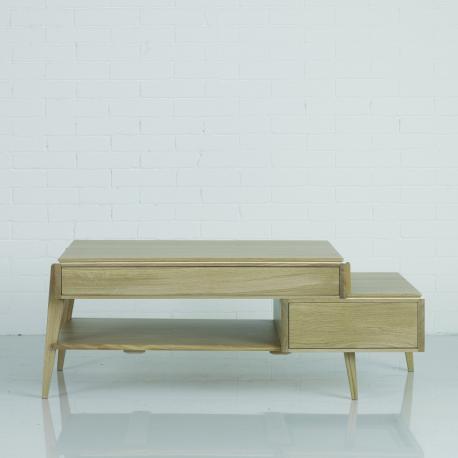 table basse liser 2 tiroirs 1 tablette amobois. Black Bedroom Furniture Sets. Home Design Ideas