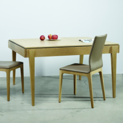 Table de repas LISERÉ – 2 allonges