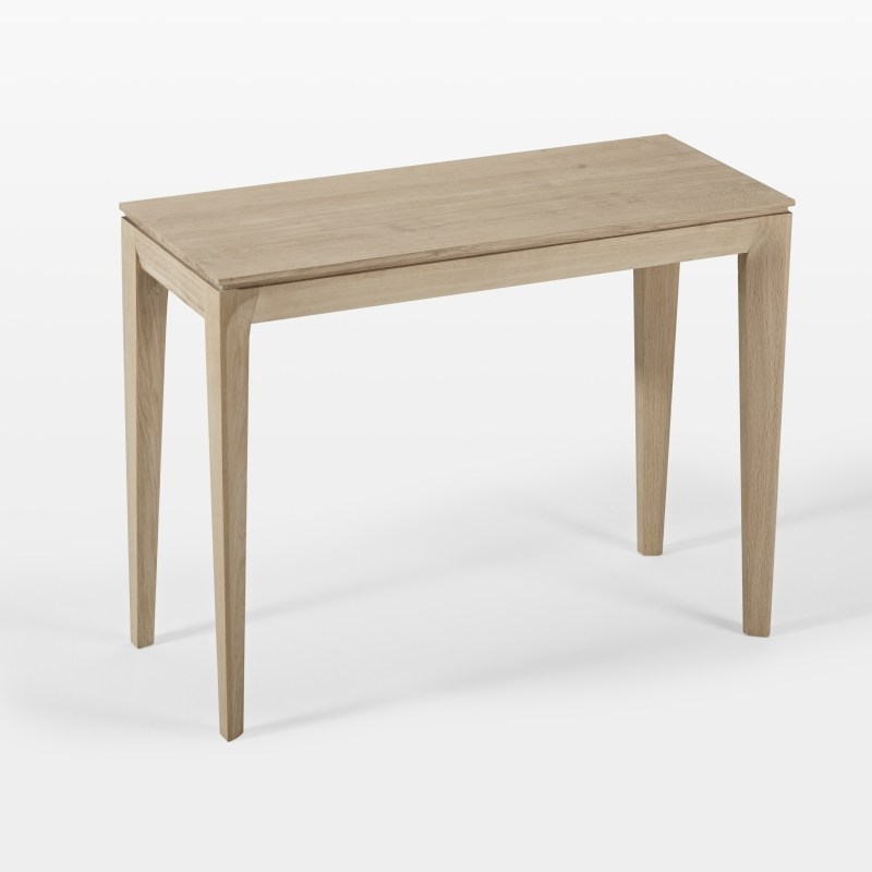 Console extensible et table de repas gain de place en bois for Table extensible design bois