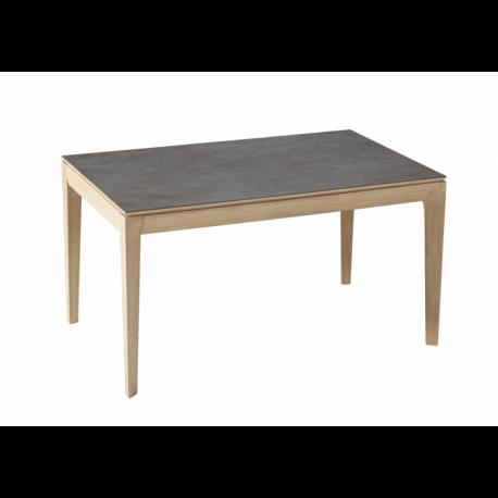 Table design bois plateau céramique hyper résistant fabriquée en France BUZZ Dasras