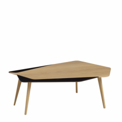 Table basse design, élégante, personnalisable en bois made in France FLO