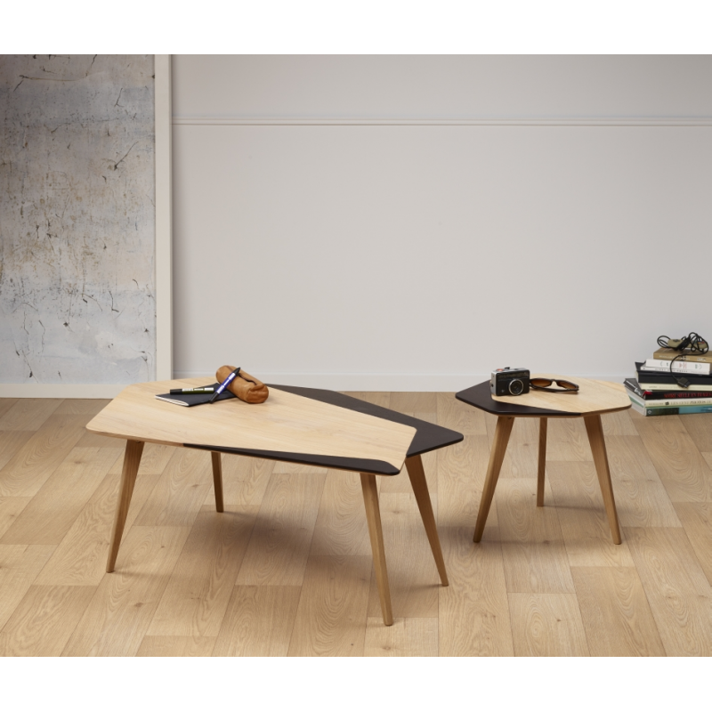 table basse design l gante personnalisable en bois made in france flo amobois. Black Bedroom Furniture Sets. Home Design Ideas