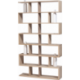 Bibliothèque contemporaine bois et vase céramique BIBLIOFLEUR