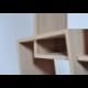 Bibliothèque scandinave au design déstructuré et graphique en bois KAO simple