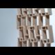 Bibliothèque scandinave au design déstructuré et graphique en bois KAO triple