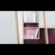 Meuble console d'entrée au design scandinave et personnalisable en bois PISA