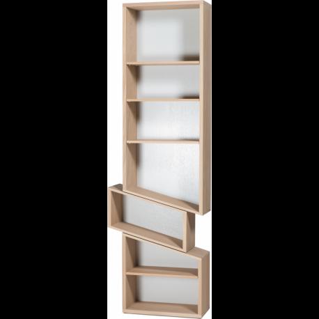 Bibliothèque design, originale, déstructurée et personnalisable en bois SLIDE