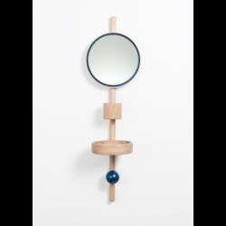 Miroir vide-poche au design scandinave personnalisable en bois SATELLITE