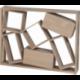 Console au design destructuré BRIC A BRAC en bois de Chêne et made in France
