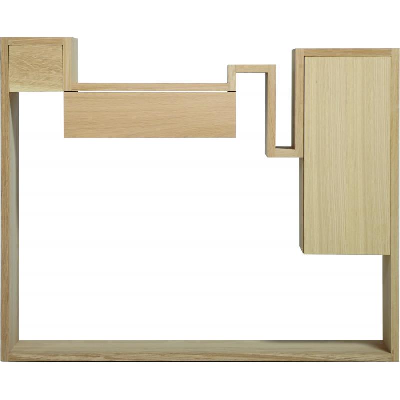 table console au design dstructur en bois glycine with mange debout avec rangement. Black Bedroom Furniture Sets. Home Design Ideas