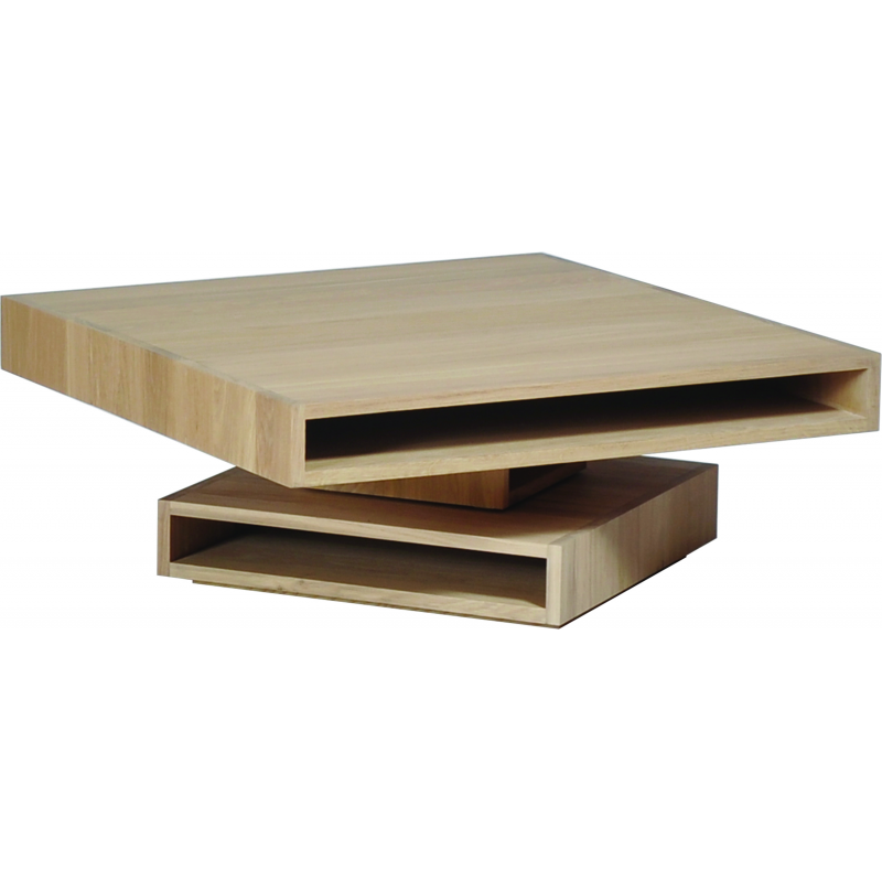 Table basse pivotante design personnalisable en bois cubocarr - Table basse pivotante ...