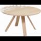 Table basse design nature en bois personnalisable CANOPÉE