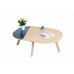 Table basse contemporaine personnalisable en bois massif ARONDE