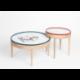 Table basse ronde design marbre bois personnalisable BOUILLOTTE
