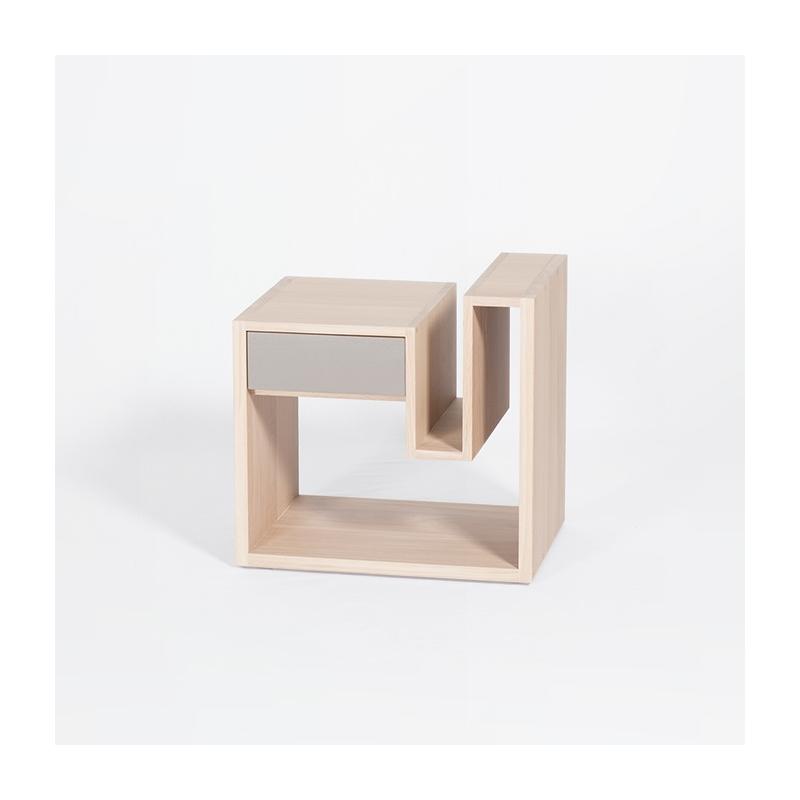 table de chevet au design scandinave en bois personnalisable cr neau. Black Bedroom Furniture Sets. Home Design Ideas