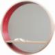 Miroir console d'entrée en bois cintré et au design scandinave personnalisable