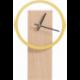 Horloge à poser design épurée en bois personnalisable CYCLOCK