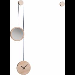 Horloge Miroir en bois au design scandinave personnalisable PENDULE