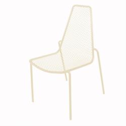 Chaise de jardin métal design et empilable DALIA