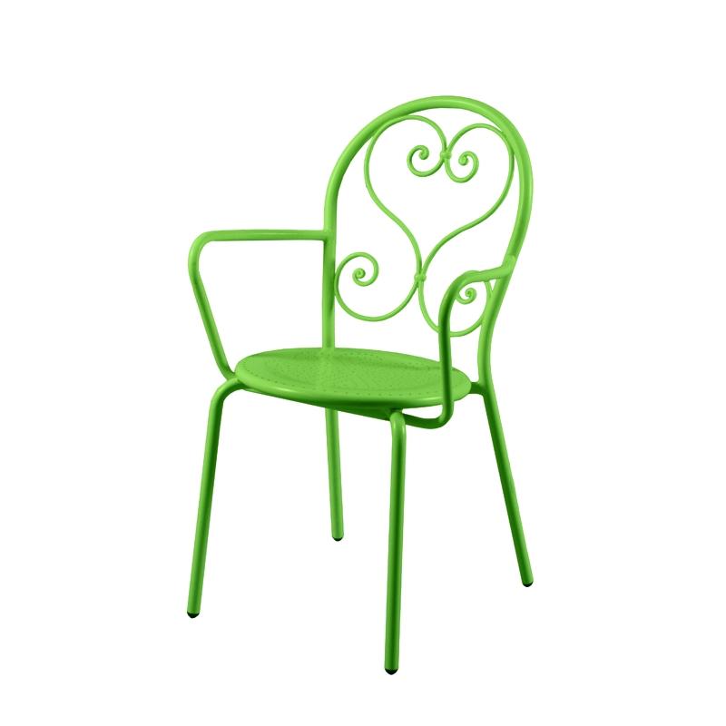 fauteuil de jardin classique en fer forg flor ale amobois. Black Bedroom Furniture Sets. Home Design Ideas