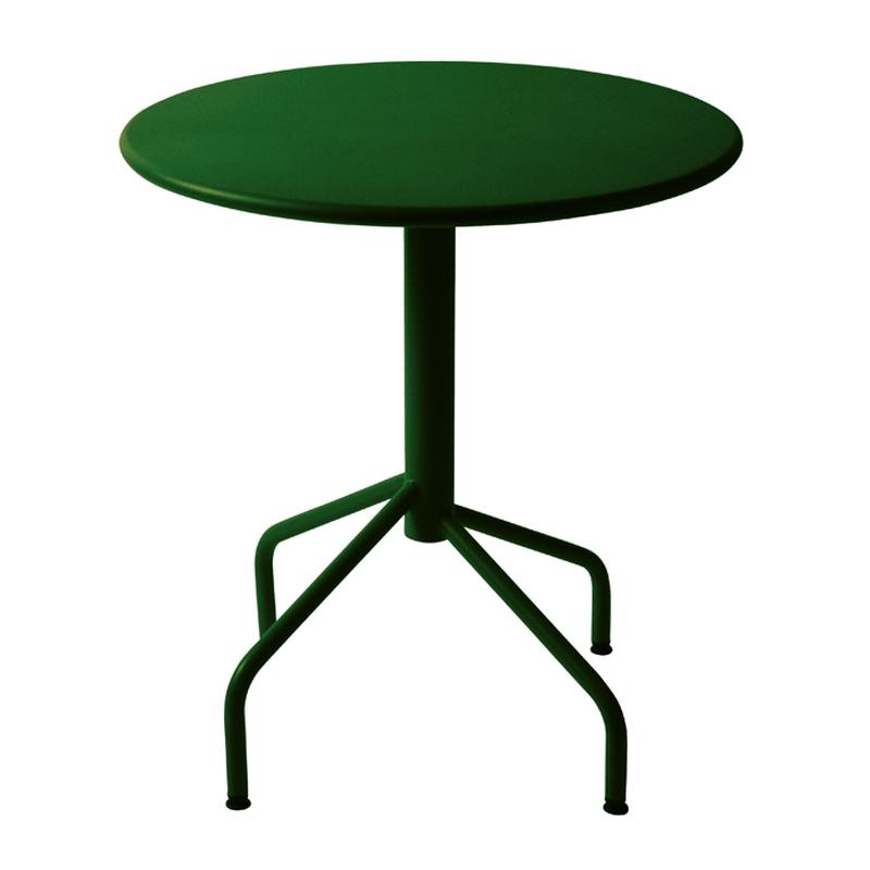 table m tal rabattable ronde. Black Bedroom Furniture Sets. Home Design Ideas