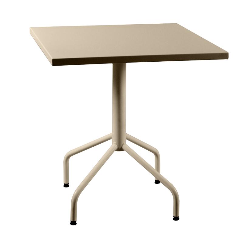 table m tal rabattable carr e. Black Bedroom Furniture Sets. Home Design Ideas