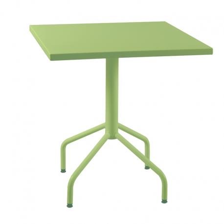 Table de jardin métal carrée rabattable
