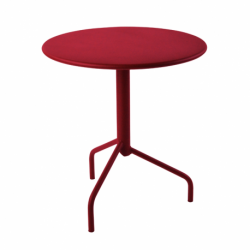 Table métal rabattable ronde 3 pieds