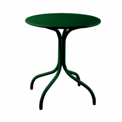 Table de jardin métal ronde made in France - Plateau au choix de 60 à 100cm
