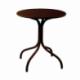 Table de jardin métal ronde made in France - Plateau au choix de 60 à 100cm