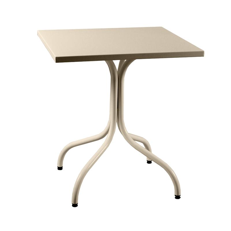 Table m tal carr e for Table carree exterieur aluminium