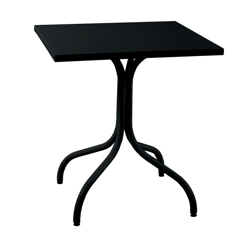 Table carree exterieur aluminium maison design for Table exterieur aluminium anodise