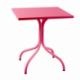 Table de jardin métal carrée made in France - Plateau au choix de 60 à 80 cm de côté