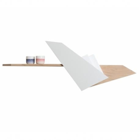 Étagère au design original et graphique en forme d'oiseau en bois personnalisable