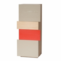 Placard de rangement d'entrée au design scandinave décalé personnalisable en bois DÉCALAGES BAS
