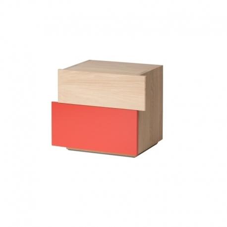 Table de chevet au design scandinave en bois personnalisable DÉCALAGE