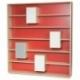 Bibliothèque en bois au design scandinave avec placards de rangement MIXAGE 190