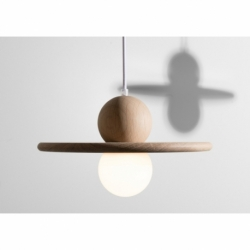 Suspension au design scandinave en bois NÉBULEUSE