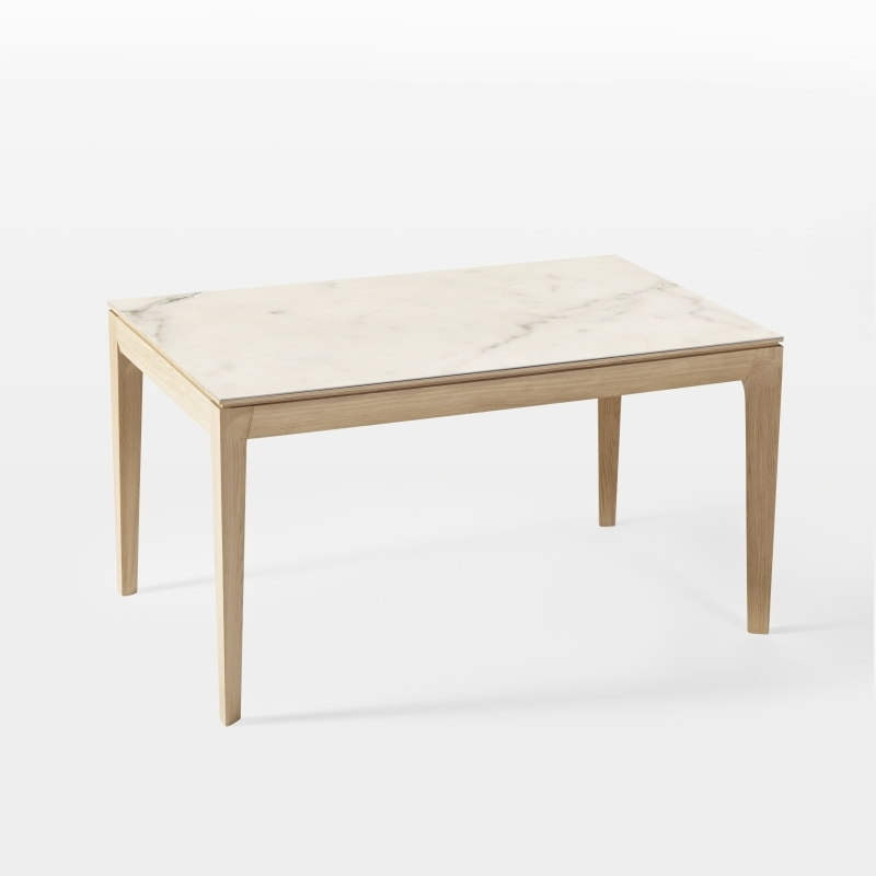 Table cologique c ramique bois design made in france buzz for Table design plateau ceramique