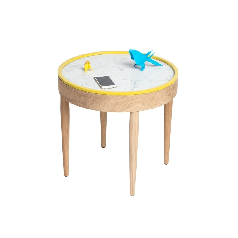 Table basse bouillotte - Table marbre ronde ...