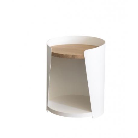 Table de nuit métal bois design Armand