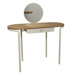 Table coiffeuse bois métal design Mr & Mrs