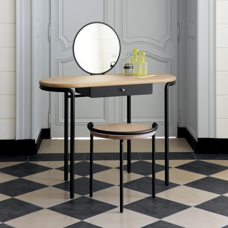 table coiffeuse bois m tal design mr mrs amobois. Black Bedroom Furniture Sets. Home Design Ideas