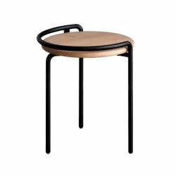 Tabouret métal bois design Monsieur et Madame