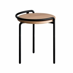 Tabouret métal bois design Mr & Mrs