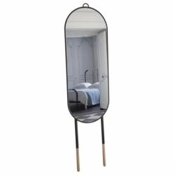 Miroir métal bois design Mr & Mrs
