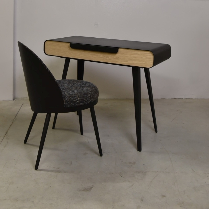 Bureau m tal bois design kapriss amobois for Bureau bois metal