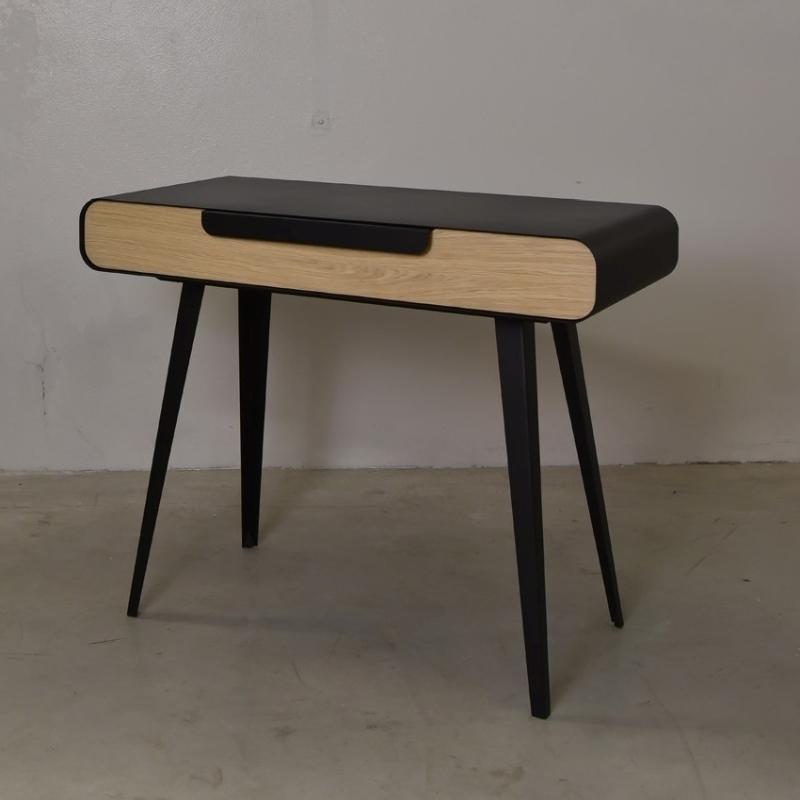 bureau m tal bois design kapriss amobois. Black Bedroom Furniture Sets. Home Design Ideas