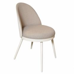 Chaise design métal tissu Lili